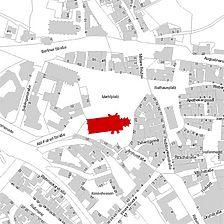 Flurkarte 2006 (Vorlage LV-BW und LAD) / Ev. Stadtkirche St. Dionys in 73728 Esslingen am Neckar
