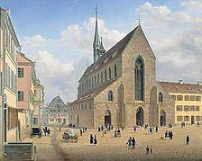 Joh. Braungart, Die Franziskanerkirche, um 1840,  Stadtmuseum Esslingen / Franziskanerkirche in 73728 Esslingen am Neckar (Stadtmuseum Esslingen)