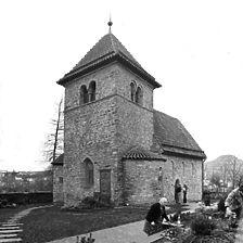 Aufnahme von Nordost, 1975 / St. Peter in 71720 Oberstenfeld