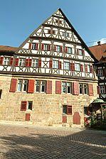Westansicht / Ehem. Pfarr- und Zehnthof (Speyerer Pfleghof, Kesslerhaus) in 73728 Esslingen am Neckar (20.09.2005 - Michael Hermann)