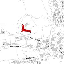 Flurkarte 2006 (Vorlage LV-BW und LAD) / Burg Niederalfingen, Marienburg in 73460 Hüttlingen-Niederalfingen