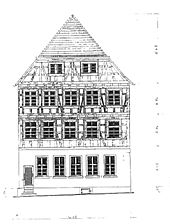 Bretten, Melanchthonstraße 24, Schweizer Hof, Ansicht Süd / Schweizer Hof in 75015 Bretten