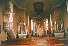 Buchen, Götzingen, Kath. Pfarrkirche,  Innenaufnahme / Kath. Pfarrkirche St. Bartholomäus in 74722 Buchen, Götzingen