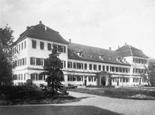 Schloss Bödigheim von Südwest / Schloss Bödigheim Pavillonbau in 74722 Buchen-Bödigheim (Bildindex: LAD Baden-Württemberg, Außenstelle Karlsruhe, Microfiche-Scan mi05080b03)