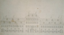 Schloß Bödigheim, undatierter Entwurf des Gebäudes / Schloss Bödigheim Pavillonbau in 74722 Buchen-Bödigheim (13.03.2007)