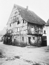 Historische Ansicht des Gebäudes (1968) / Ehem. Gerberhaus in 75015 Bretten (01.01.1968 - Bildindex Foto Marburg: LDA Karlsruhe, 1086/57 [mi05053e05a])