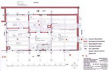 Fischerhaus, Bauphasenplan Erdgeschoss, Urheber: Säubert, Bernd F. (Architekturbüro Bernd F. Säubert) / Fischerhaus in 76706 Dettenheim-Rußheim