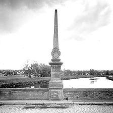 Ausschnitt photogrammetrische Aufnahme Ansicht Süd, 1977 / Ulrichsbrücke in 73257 Köngen