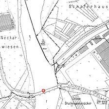 Flurkarte 1952 (Vorlage LV-BW) / Ulrichsbrücke in 73257 Köngen