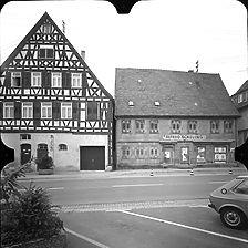 Photogrammetrische Aufnahme Ansicht Süd Hauptstraße 23 und 25, 1977 / Fassadenabwicklung Straßenseite in 73547 Lorch