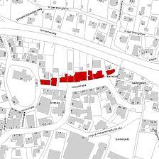 Flurkarte 2006 (Vorlage LV-BW und LAD) / Fassadenabwicklung Straßenseite in 73547 Lorch