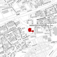 Flurkarte 2006 (Vorlage LV-BW und LAD) / Christuskirche in 75172 Pforzheim-Brötzingen
