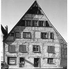 Aufnahme von Süd, 1977 / Ehem. Stegbad in 89073 Ulm