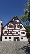 Ehem. Stegbad, Südfassade / Ehem. Stegbad in 89073 Ulm (30.05.2018 - Christin Aghegian-Rampf)