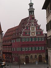 Nordansicht mit Renaissance-Giebel von Heinrich Schickhardt (2007) / Altes Rathaus (urspr. Brot- und Steuerhaus) in 73728 Esslingen am Neckar