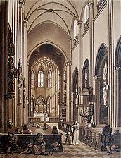 Münster um 1820 / Münster unserer Lieben Frau in 79098 Freiburg, Altstadt