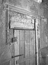spätgotisches Portal an der Ostseite im Untergeschoss (2007) / ehemalige Kapelle in 74632 Neuenstein