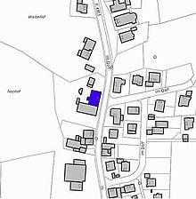 Lageplan 2007 (Vorlage LV-BW) / Gasthaus Raben in 79289 Horben