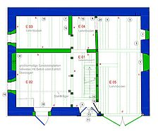Bauphasenplan EG (Plangrundlage Architekturbüro Weinreich) / ehemalige Synagoge, `Firminushaus` in 74252 Massenbachhausen