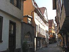 Straßenseitige Ansicht des Gebäudes Webergasse 13 / Wohnhaus in 73728 Esslingen am Neckar