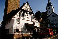 Gernsbach, Hauptstraße 59, ehemaliges Torwächterhaus, Ansicht West / ehemaliges Torwächterhaus in 76593 Gernsbach