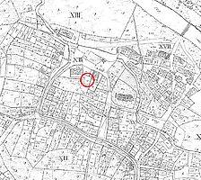 Ausschnitt des Primärkatasterplans (um 1827) / ehemalige Scheune in 73079 Süßen