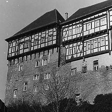 Ansicht von Süden vor der Sanierung / Hessensches Schloss in 74388 Talheim