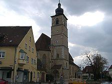Die Johanneskirche aus nordöstlicher Richtung / Kirche St. Johannes, Johanneskirche in 74564 Crailsheim