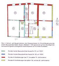 Heidelberg, Rohrbach, Rathausstraße 57/59, Bauphasenplan Obergeschoss / Wohnhaus in 69126 Heidelberg, Rohrbach