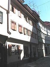 Straßenseitige Ansicht des Gebäudes Webergasse 17 / Wohngebäude in 73728 Esslingen am Neckar