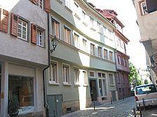 Straßenseitige Ansicht des Gebäudes Webergasse 19 / Wohngebäude in 73728 Esslingen am Neckar