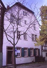 Weinheim, Quergässchen 2, ehemaliges Gerberhaus, Straßenansicht / ehemaliges Gerberhaus in 69469 Weinheim a.d. Bergstraße