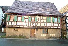 Bahnhofstraße 6, Nordansicht. 2009 abgebrochen. / Wohnhaus in 71287 Weissach/Württ. (25.02.2007 - Michael Hermann)