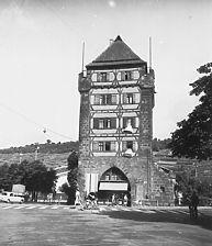 Aufnahme von der Stadtseite (LAD, 1959) / Schelztorturm in 73728 Esslingen am Neckar