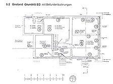 Karlsbad-Langensteinbach, Weinbrennerstraße 7, Haus Conrath, Befundplan Erdgeschoss / Haus Conrath in 76307 Karlsbad-Langensteinbach