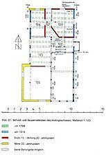 Bauphasenplan Erdgeschoss / Wohnhaus mit Scheune in 72160 Horb am Neckar, Untertalheim