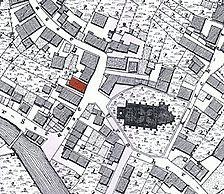 historischer Lageplan / Wohn- und Geschäftshaus in 72555 Metzingen