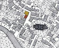 historischer Lageplan / Fachwerkhaus in 72555 Metzingen