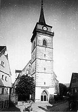 Aufnahme um 1900 (www.bildindex.de) / Martinskirche, ev. Stadtkirche in 72555 Metzingen