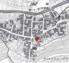 Historische Flurkarte / Wohnhaus in 72525 Münsingen