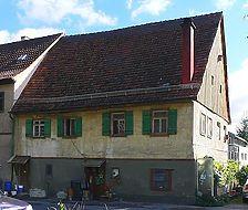Westansicht, August 2007. Foto: Dietmar Hencke (StadtA SHA Server Häuserlexikon) / Wohnhaus in 74523 Schwäbisch Hall