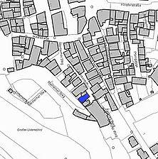Lageplan 2007 (Vorlage LV-BW) / Fachwerkhaus in 74523 Schwäbisch Hall