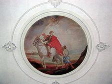 St. Nikolaus. Deckenbild. / Katholische Kirche St. Nikolaus in 72539 Pfronstetten