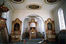 St. Stephan. Vor der Restaurierung. / Katholische Kirche St. Stephan in 72539 Pfronstetten, Tigerfeld