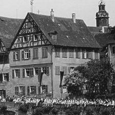 Bild wohl vom Ende der 1920er Jahre (StadtA SHA FS 00931b) / Wohnhaus in 74523 Schwäbisch Hall