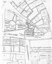 Lageplan 22.02.1908 / Wohn- und Geschäftshaus = Mühlbergle 16? in 73525 Schwäbisch Gmünd