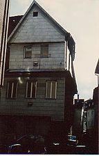 Ansicht gegen Brählesgasse um 1989 / Fachwerkhaus in 70372 Stuttgart, Bad Cannstatt