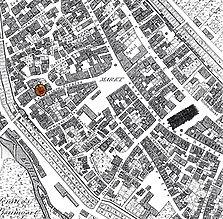 Ausschnitt aus der historischen Flurkarte von 1820 / Wohnhaus in 72764 Reutlingen
