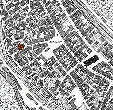 Ausschnitt aus der historischen Flurkarte von 1820 / Wohn- und Geschäftshaus in 72764 Reutlingen