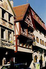 Ansicht von der Katharinenstrasse, H.-J. Bleyer, 2000 / Wohn- und Geschäftshaus in 72764 Reutlingen